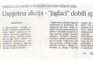 """Uspješno dovršena provedba projekta udruge """"Jaglac""""!"""